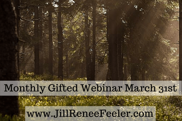Jill Renee Feeler monthly gifted webinar