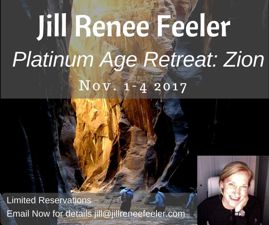 Platinum Age Retreat: Zion Nov 1 - 4 2017