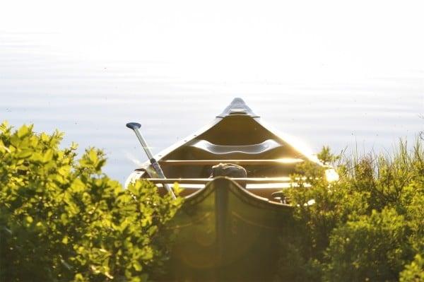 canoe ready for journey
